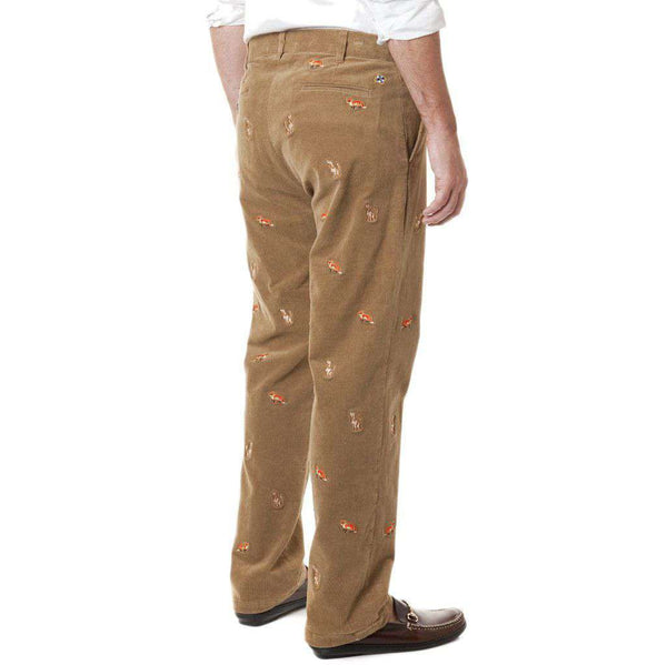 Beachcomber Corduroy Pants in Khaki with Fox & Hound by Castaway Clothing  - 2