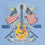 Freedom Rocks T-Shirt in Ocean Channel Blue by Southern Tide  - 2