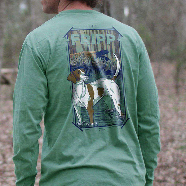 Fripp Outdoors Dog in Water Long Sleeve T-Shirt in Light Green