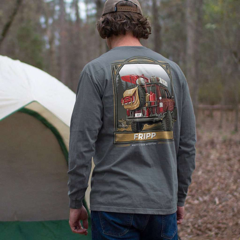 Outdoor Vehicle Long Sleeve T-Shirt in Pepper by Fripp Outdoors