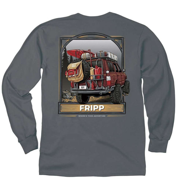 Fripp Outdoors Outdoor Vehicle Long Sleeve T-Shirt in Pepper