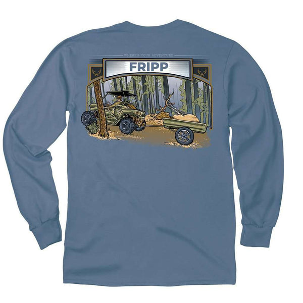 Fripp Outdoors The Transport Long Sleeve T-Shirt in Marine Blue