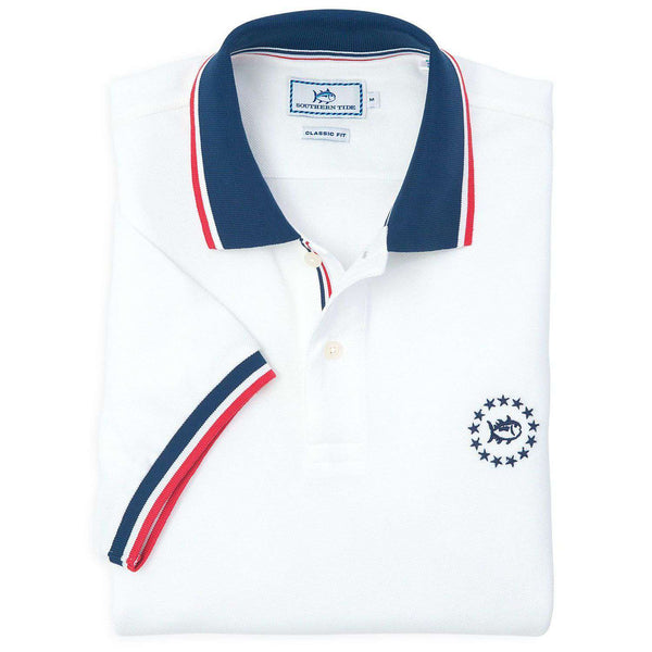 Front Runner Polo in Classic White by Southern Tide  - 1