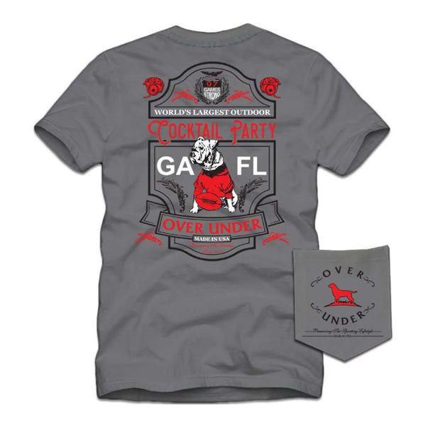 Over Under Clothing Georgia vs Florida Short Sleeve T-Shirt in Grey