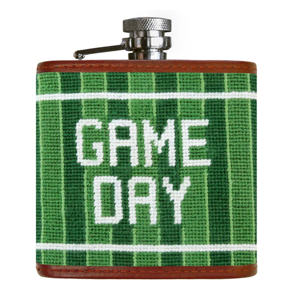 Game Day Needlepoint Flask by Smathers & Branson