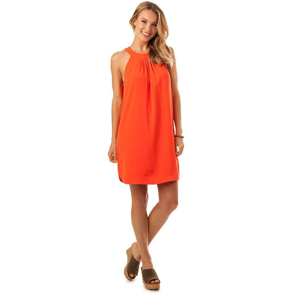 Gameday Dress in Orange Sky by Southern Tide  - 1