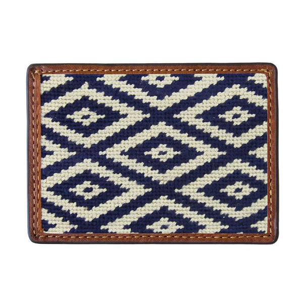 Smathers & Branson Gaucho Mini Needlepoint Credit Card Wallet