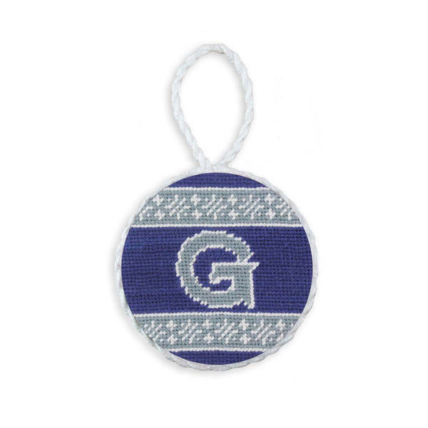 Georgetown University Fairisle Needlepoint Ornament by Smathers & Branson