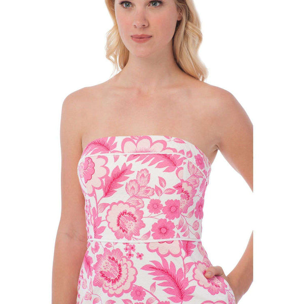 Georgia Strapless Dress in Island Floral by Southern Tide
