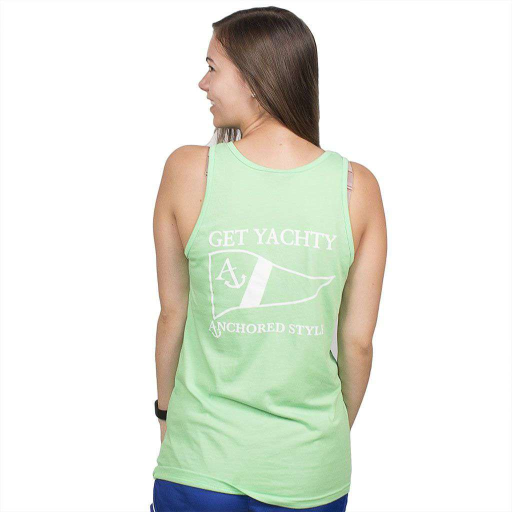 Get Yachty Tank Top in Neon Green by Anchored Style  - 1
