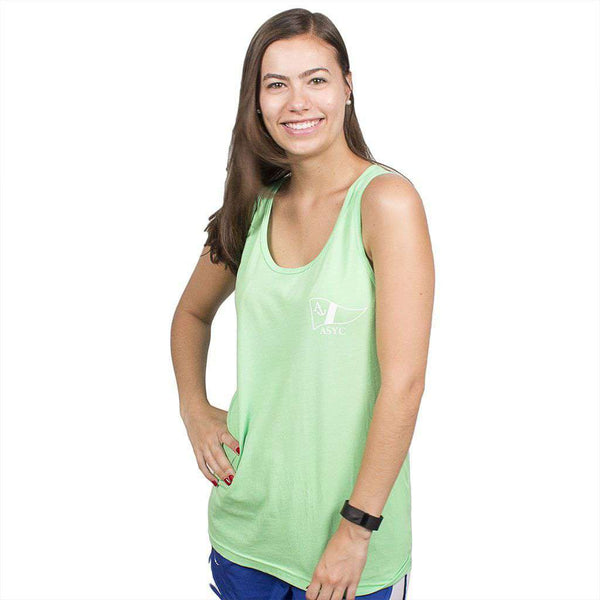 Get Yachty Tank Top in Neon Green by Anchored Style  - 2