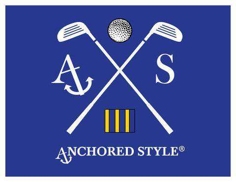 Golf Tee Shirt in Royal Blue by Anchored Style  - 2