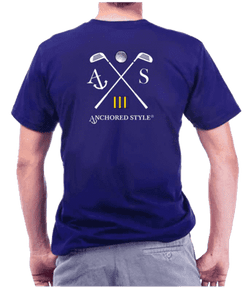Golf Tee Shirt in Royal Blue by Anchored Style  - 1