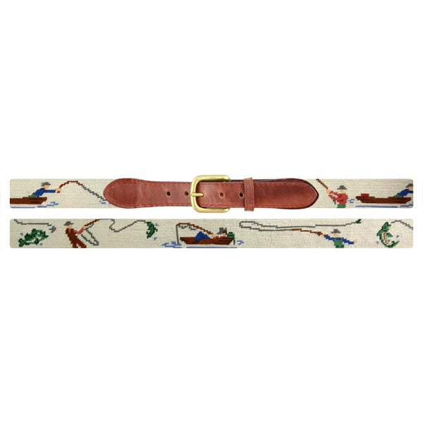 Gone Fishing Needlepoint Belt by Smathers & Branson