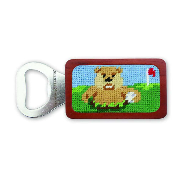 Gopher Needlepoint Bottle Opener by Smathers & Branson