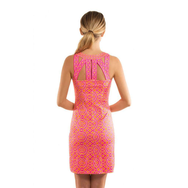Isosceles Dress in Pink & Orange by Gretchen Scott