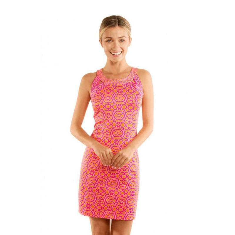 Gretchen Scott Isosceles Dress in Pink & Orange
