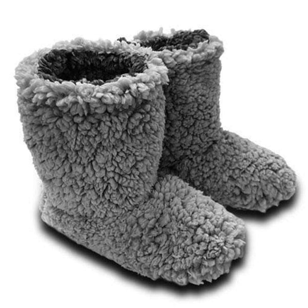 Live Oak Sherpa Fleece Booties in Grey and Charcoal