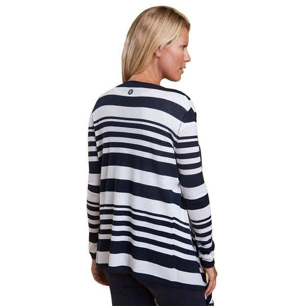 224a92957cac Harewood Cardigan in Navy by Barbour - Country Club Prep ...