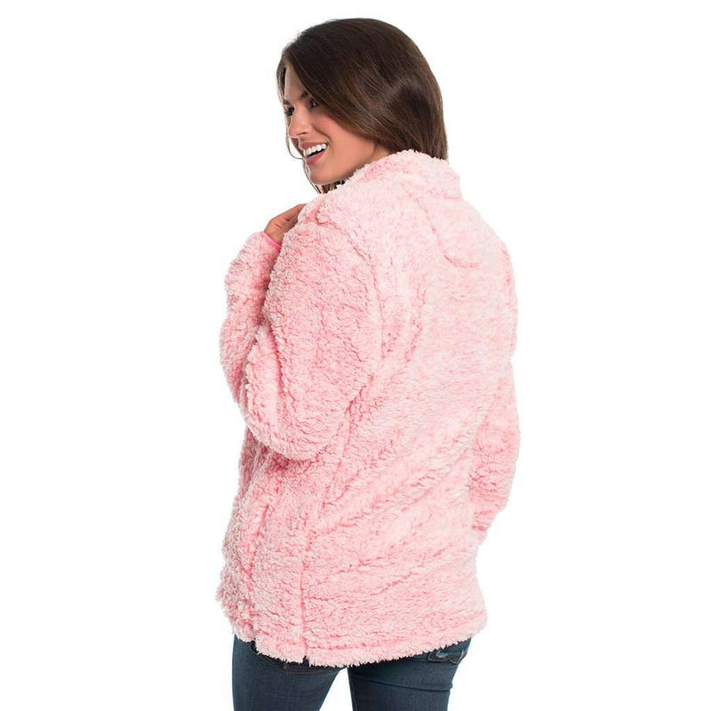 Heather Sherpa Pullover with Pockets in Himalayan Pink by The Southern Shirt Co.