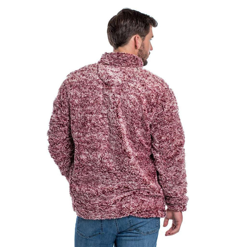 Heather Sherpa Pullover with Pockets in Windsor Wine by The Southern Shirt Co.