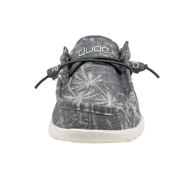 Wally Canvas Shoe in Grey Palm Print by Hey Dude