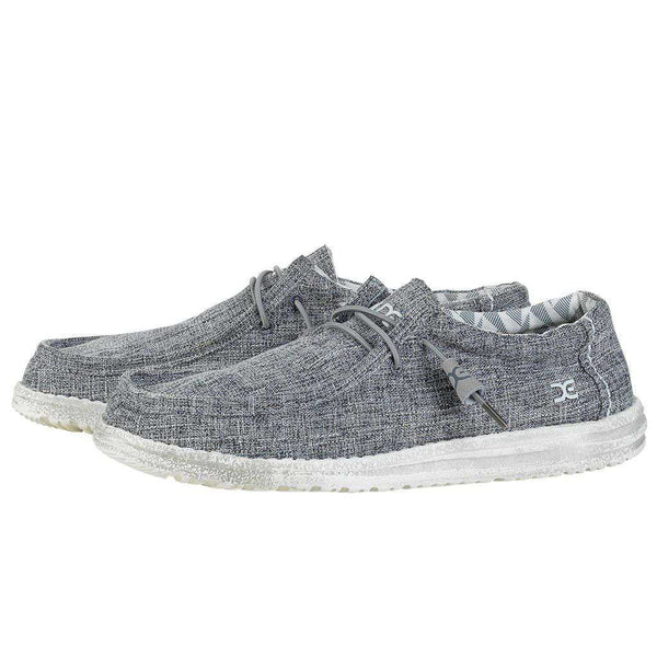 Hey Dude Wally Canvas Shoe in Linen Iron