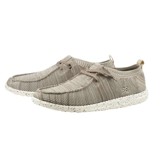 Hey Dude Wally Knit Shoe in Beige