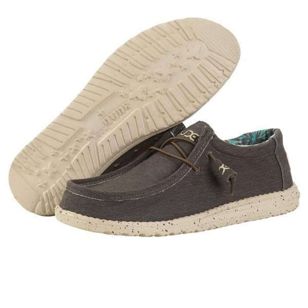 Hey Dude Wally Stretch Shoe in Chocolate by Hey Dude