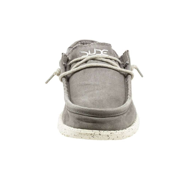 Wally Washed Shoe in Dark Grey by Hey Dude