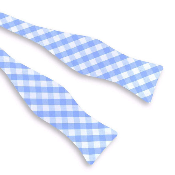 Summer Check Bow Tie in Blueberry by High Cotton - FINAL SALE