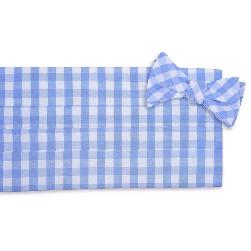 Summer Check Cummerbund Set in Blueberry by High Cotton - FINAL SALE