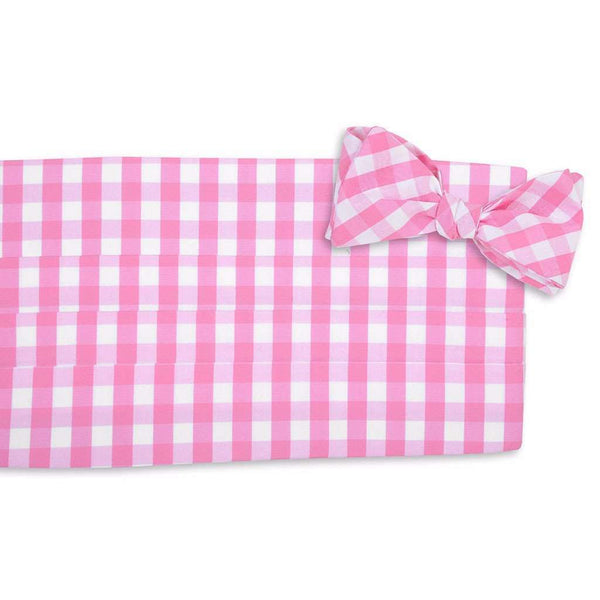 Summer Check Cummerbund Set in Strawberry by High Cotton