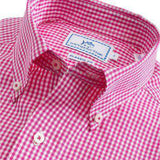 Highgate Check Classic Fit Sport Shirt in Hot Pink by Southern Tide  - 2