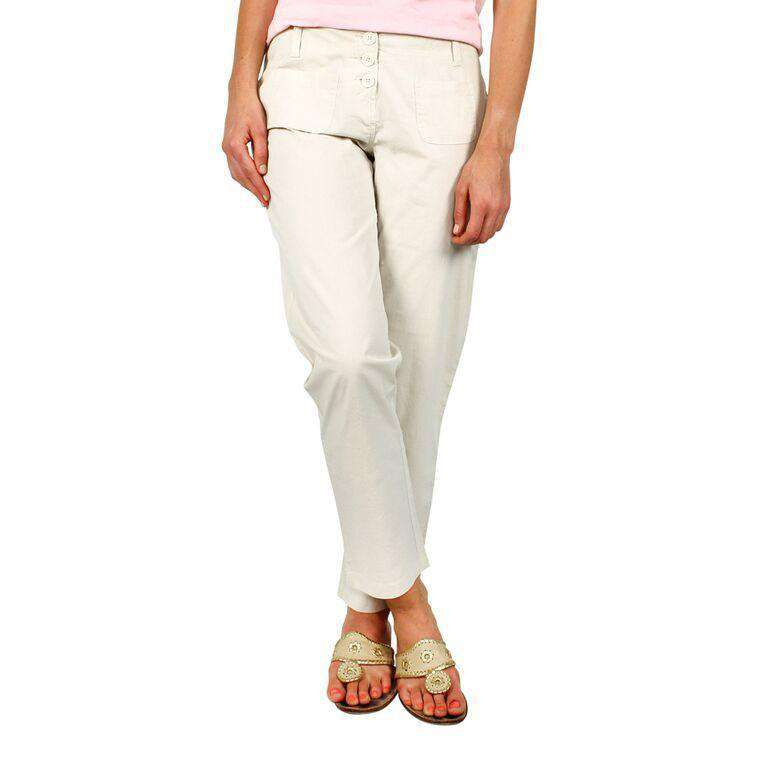 Beach Capri Pants in Light Stone by Hiho  - 1