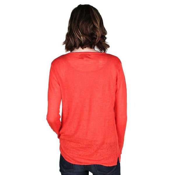 V-Neck Sweater in Light Coral by Hiho  - 2