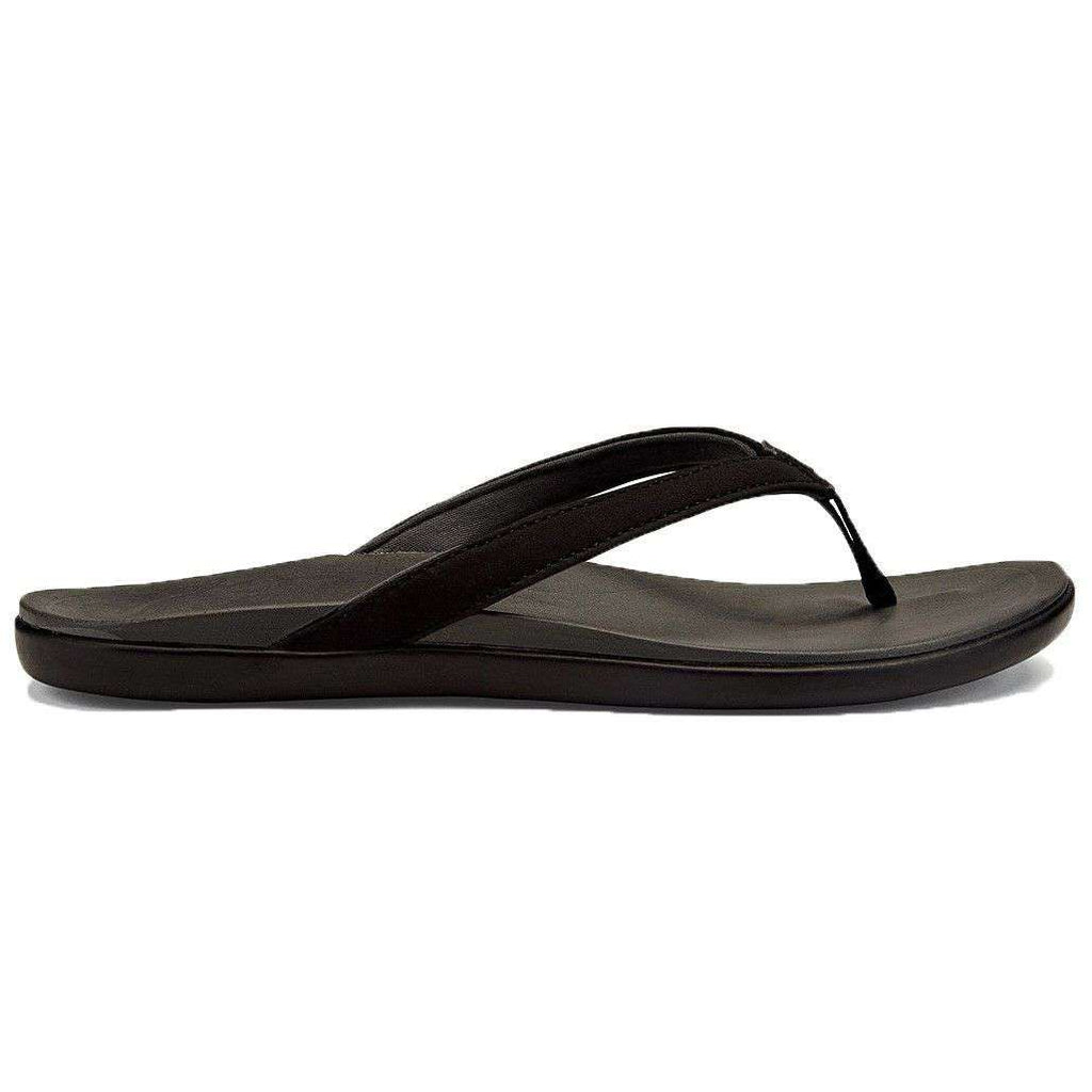 Women's Ho'opio Sandal in Black & Dark Shadow by Olukai  - 1