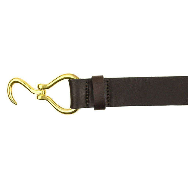 Hoof Pick Leather Belt in Dark Brown by Country Club Prep