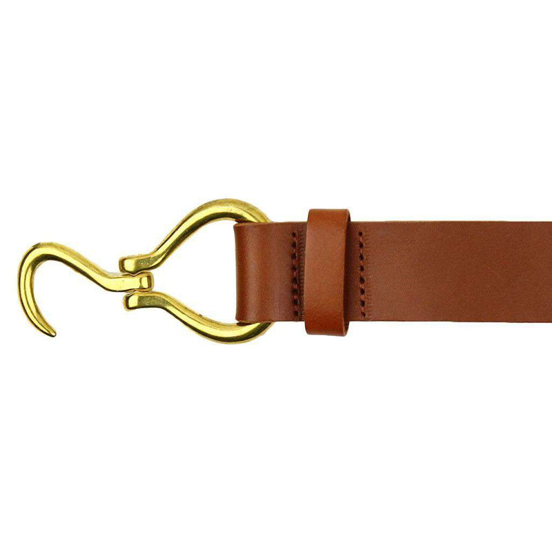 Hoof Pick Leather Belt in Light Brown by Country Club Prep
