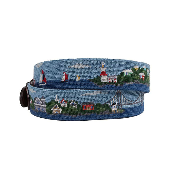 Smathers and Branson Newport to Bermuda Needlepoint Belt by Smathers & Branson