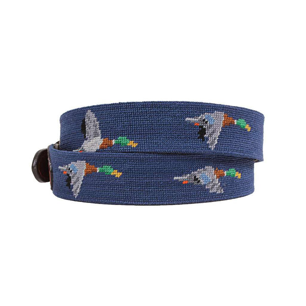 Smathers and Branson Mallard Needlepoint Belt by Smathers & Branson