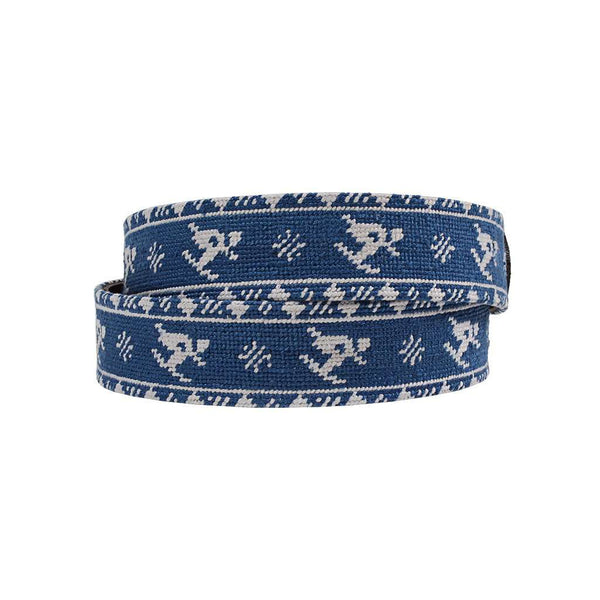 Smathers and Branson Skier Fairisle Needlepoint Belt by Smathers & Branson