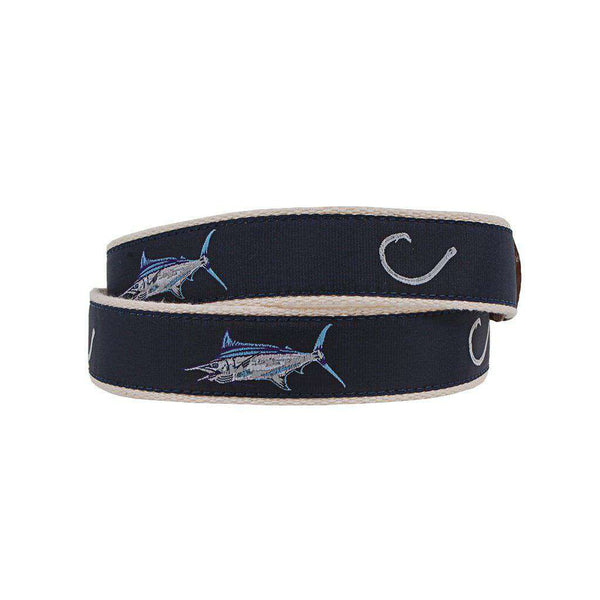 Country Club Prep Catch and Release Leather Tab Belt by Country Club Prep