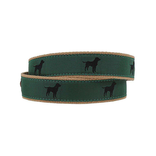 Country Club Prep Buster the Black Lab Leather Tab Belt by Country Club Prep