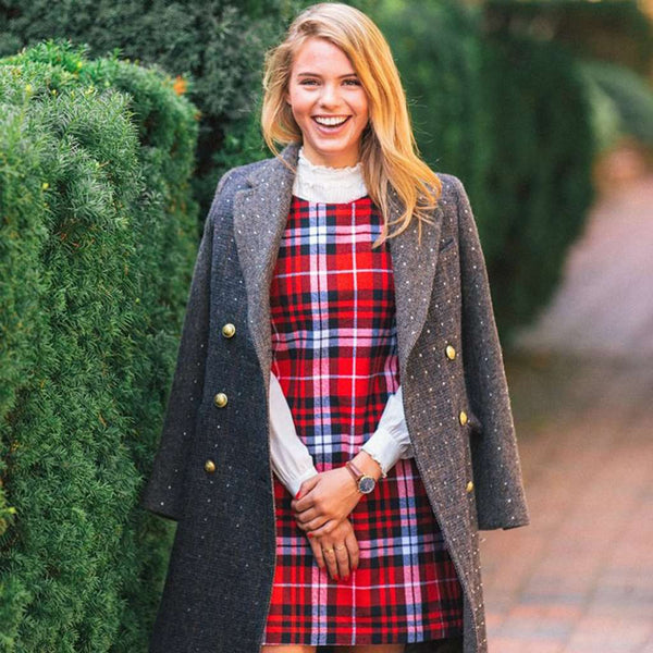 Country Club Prep Autumn Tartan / XS