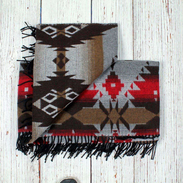 True Grit Apache Fringe Blanket by True Grit