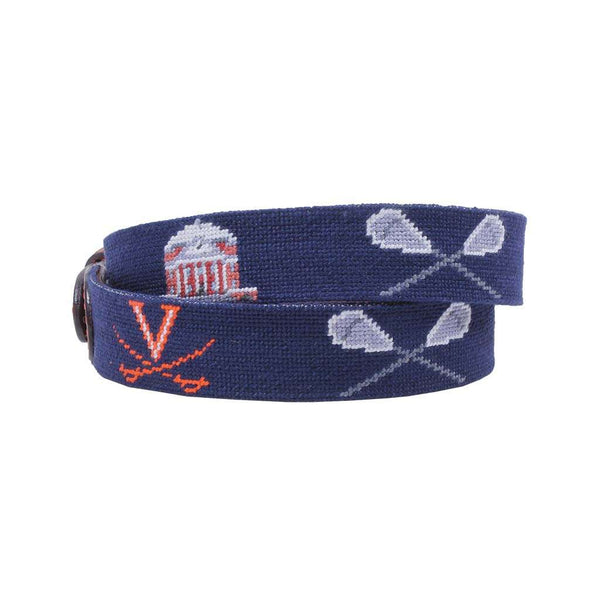 Smathers and Branson NCAA 2019 UVA Lacrosse Champions Needlepoint Belt by Smathers & Branson