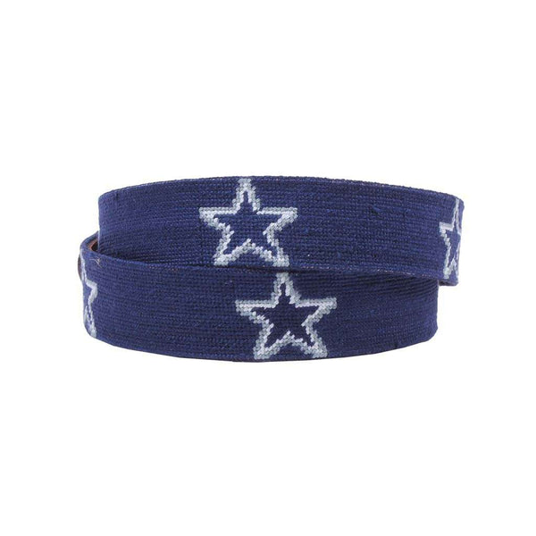 Smathers and Branson Dallas Cowboys Needlepoint Belt by Smathers & Branson