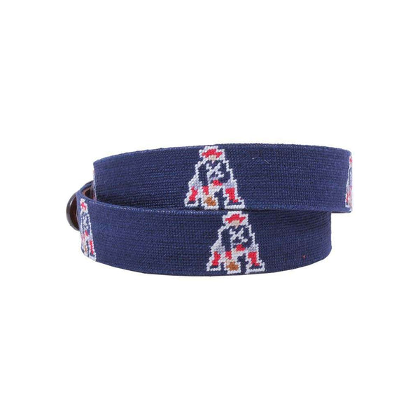 Smathers and Branson New England Patriots Vintage Logo Needlepoint Belt by Smathers & Branson