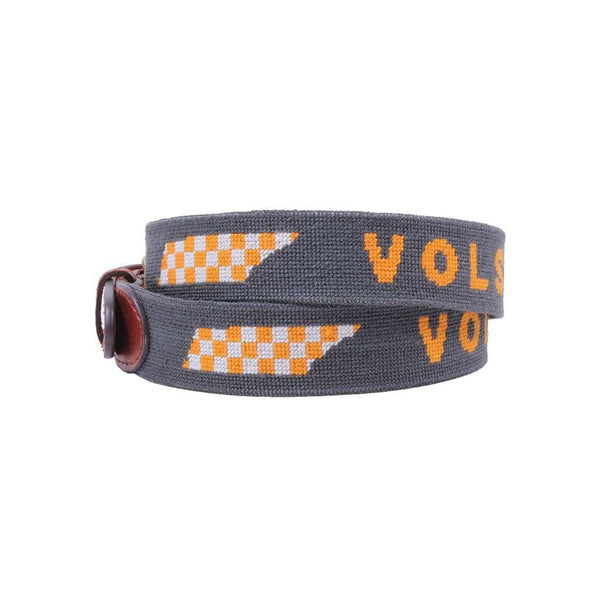 Smathers and Branson Tennessee Vols Checker Map Needlepoint Belt by Smathers & Branson